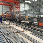 fabriqué en Chine opération simple et durable assurance de la qualité en acier d'assurance de la cage d'armature en acier et machine de renforcement de cage